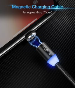 KABEL Magnet Do iPhone 7/7 Plus / 6 / 6S / 6 PLUS / 6s PLUS / 5 / 5S / SE Srebrny